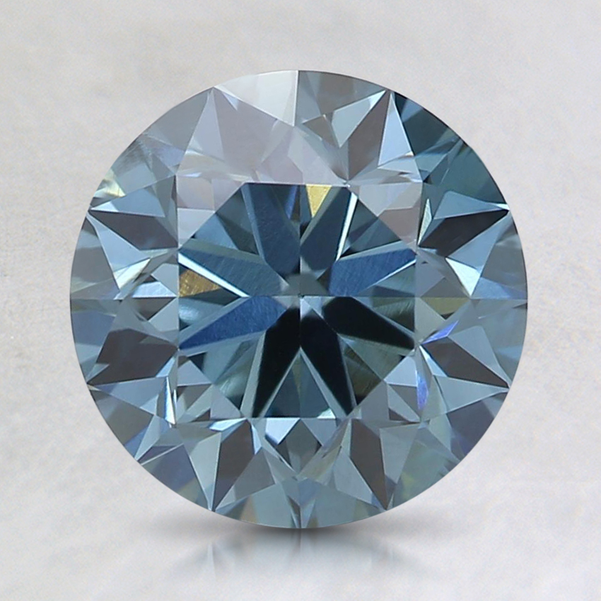2.02 Ct. Fancy Deep Blue Round Lab Created Diamond