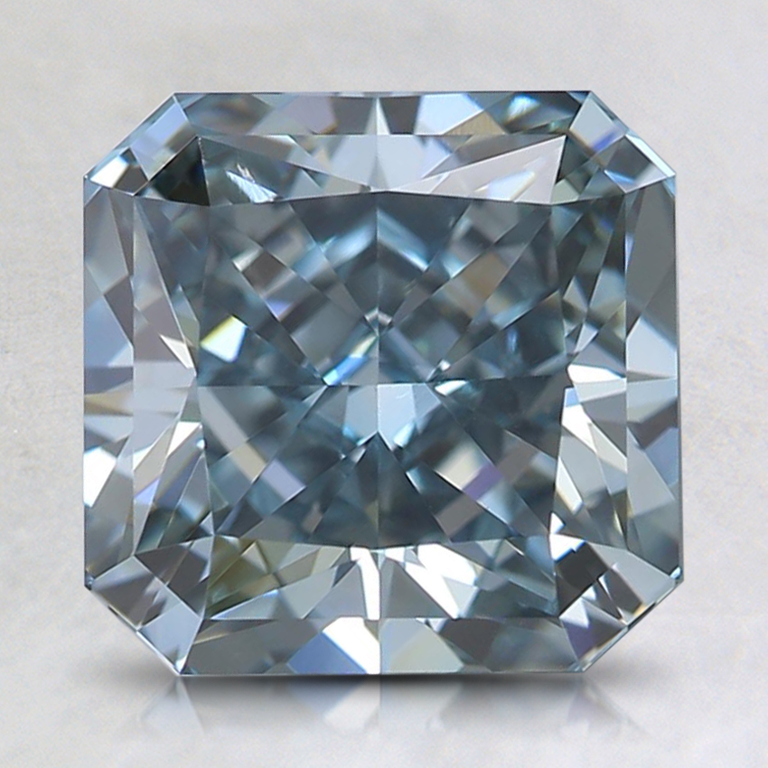 2.75 Ct. Fancy Intense Blue-Green Radiant Lab Created Diamond