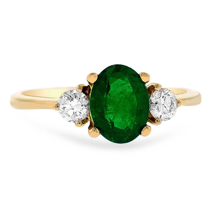 Modern Emerald Vintage Ring   Tosca