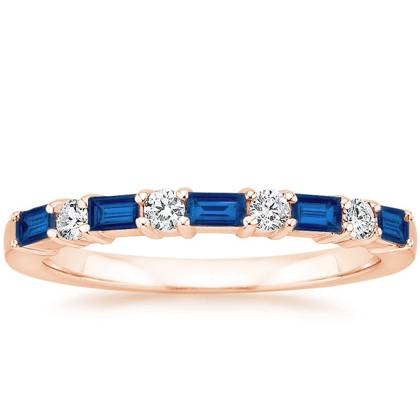 Rose Gold Leona Sapphire and Diamond Ring