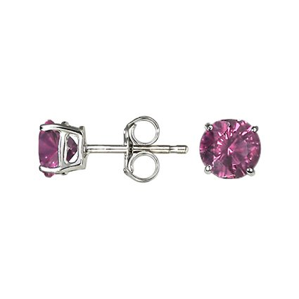 Silver Grape Garnet™ Stud Earrings (6mm), top view