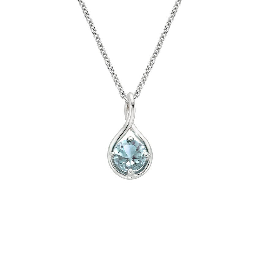 Aquamarine Twist Necklace
