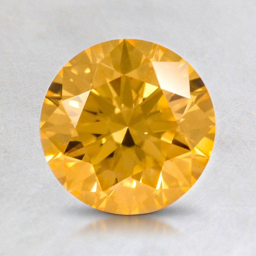 1.14 ct. Lab Created Fancy Vivid Yellow Round Diamond, top view