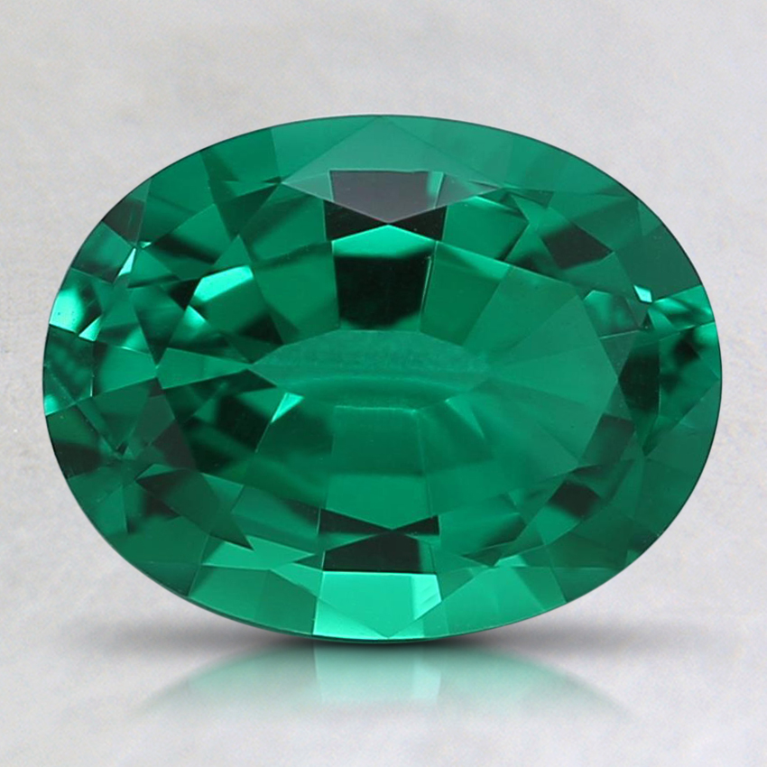 9x7mm Oval Lab Created Emerald