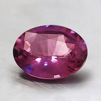 8x6mm Premium Pink Oval Sapphire, top view