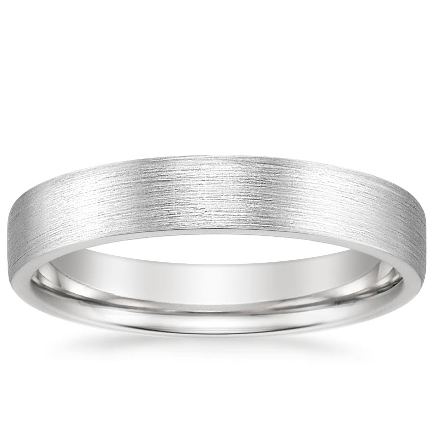 Flat Matte Wedding Ring