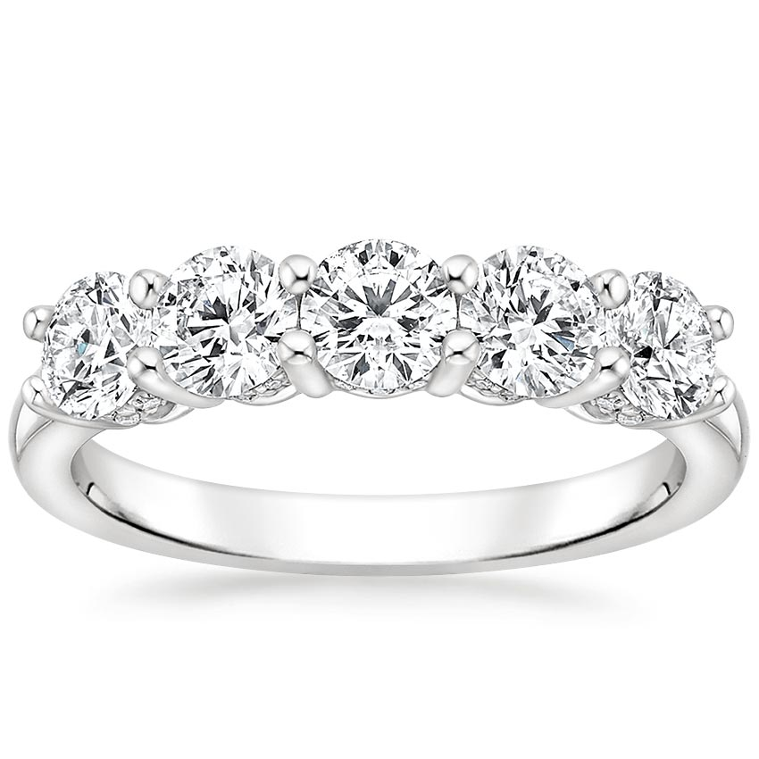 Adorned Five Stone Diamond Ring