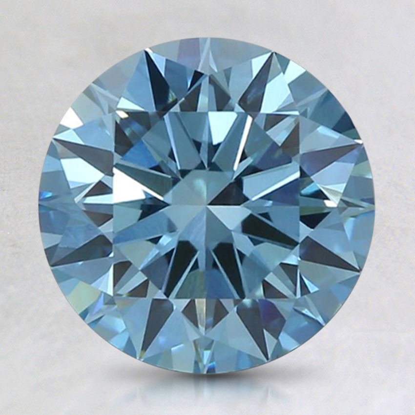2.04 Ct. Fancy Intense Blue Round Lab Created Diamond