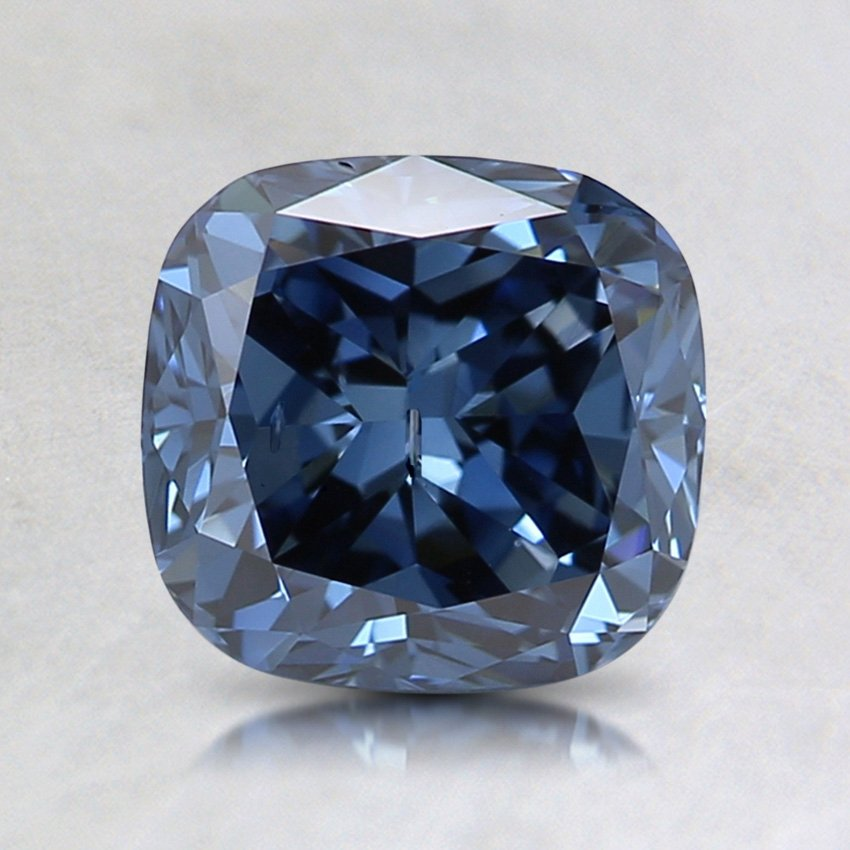 1.57 Ct. Fancy Vivid Blue Cushion Lab Created Diamond