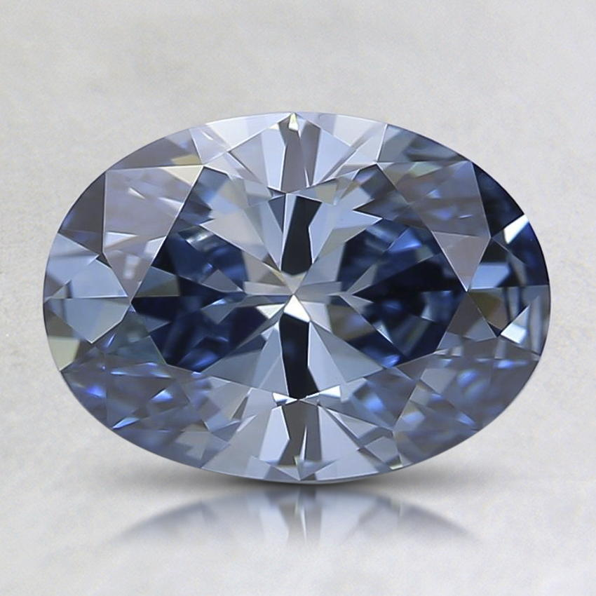 1.29 Ct. Fancy Vivid Blue Oval Lab Created Diamond