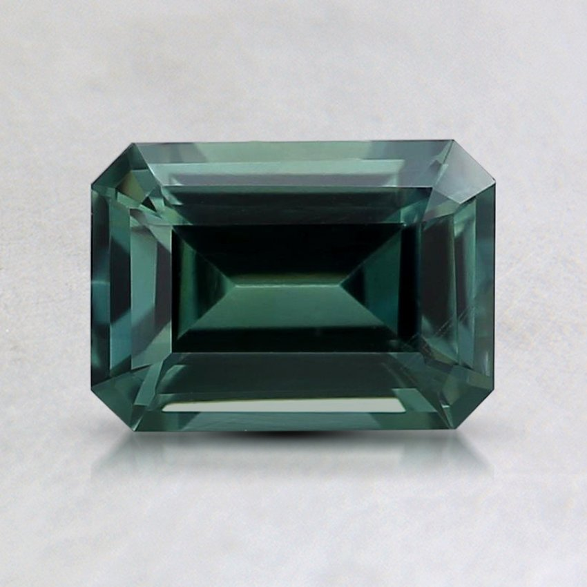 7x5mm Teal Emerald Sapphire, top view