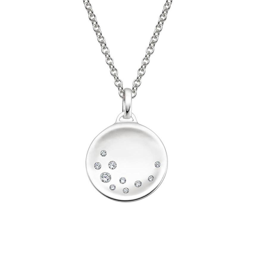 Diamond Disk Pendant
