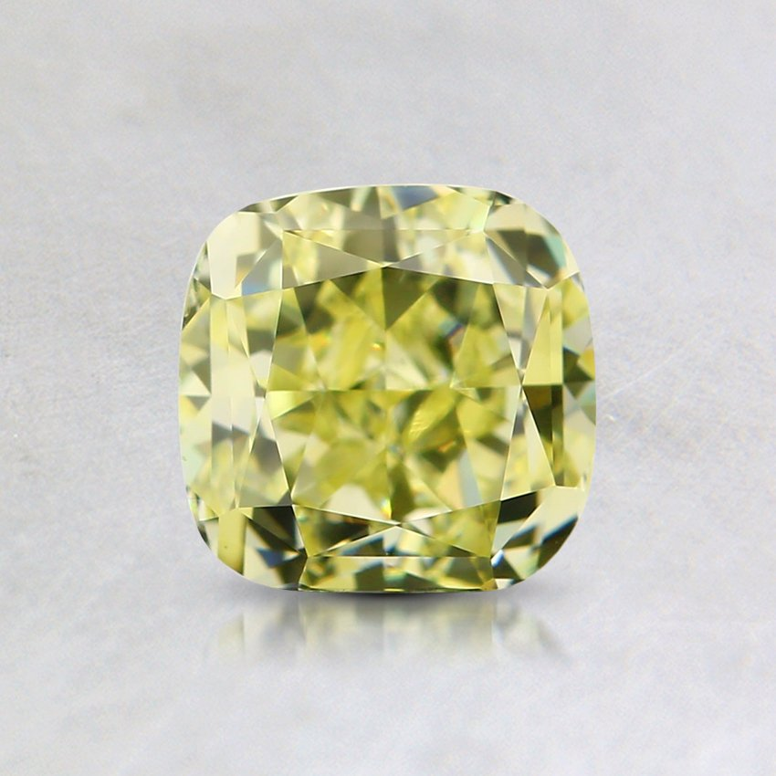 1.00 Ct. Natural Fancy Yellow Cushion Diamond