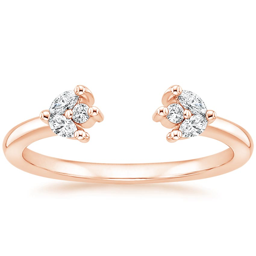 Rose Gold Nature-inspired Open Diamond Ring
