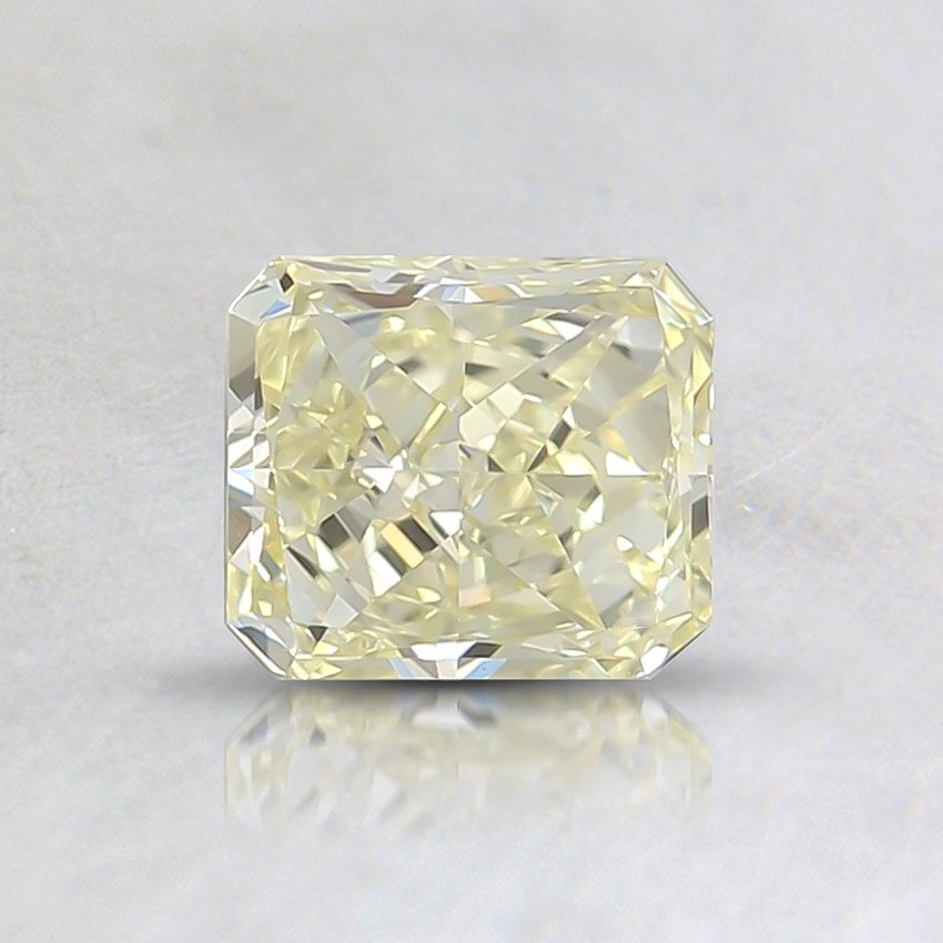 0.54 Ct. Fancy Light Yellow Radiant Diamond