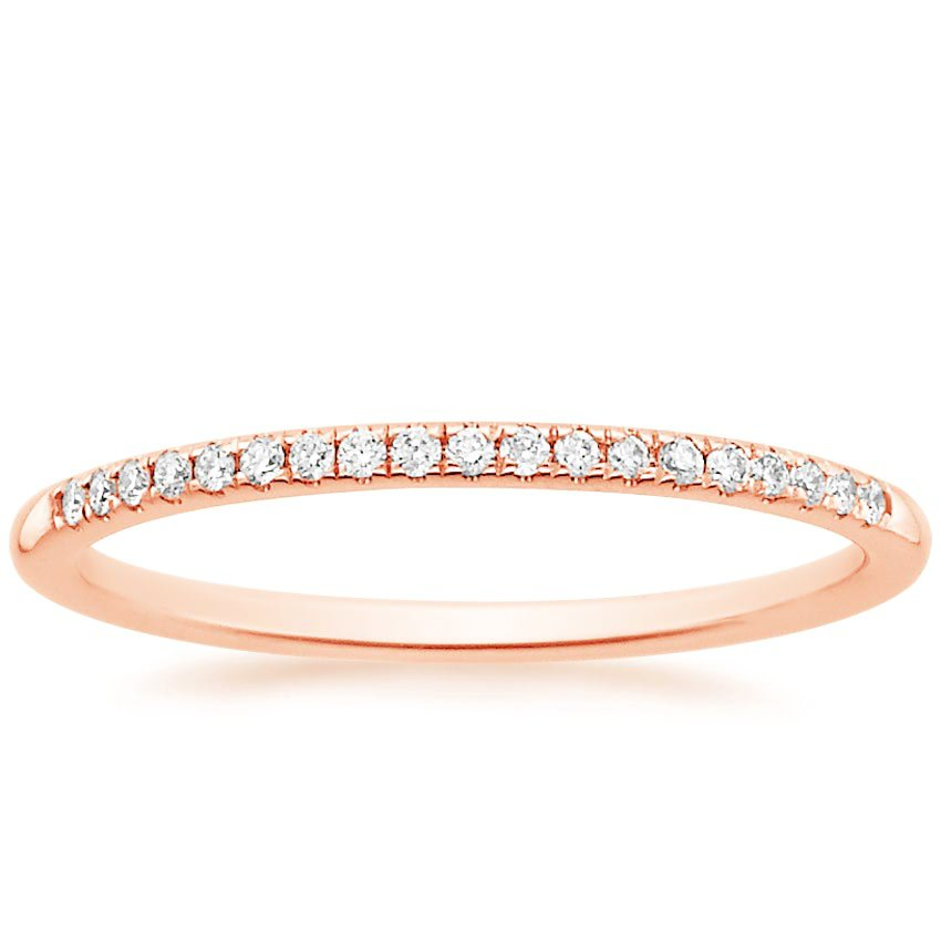 Rose Gold Petite Diamond Ring