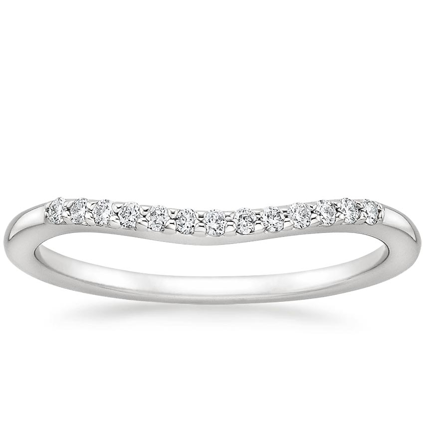 Petite Curved Diamond Ring (1/10 ct. tw.) in Platinum