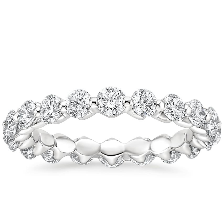 Single Shared Prong Eternity Wedding Ring