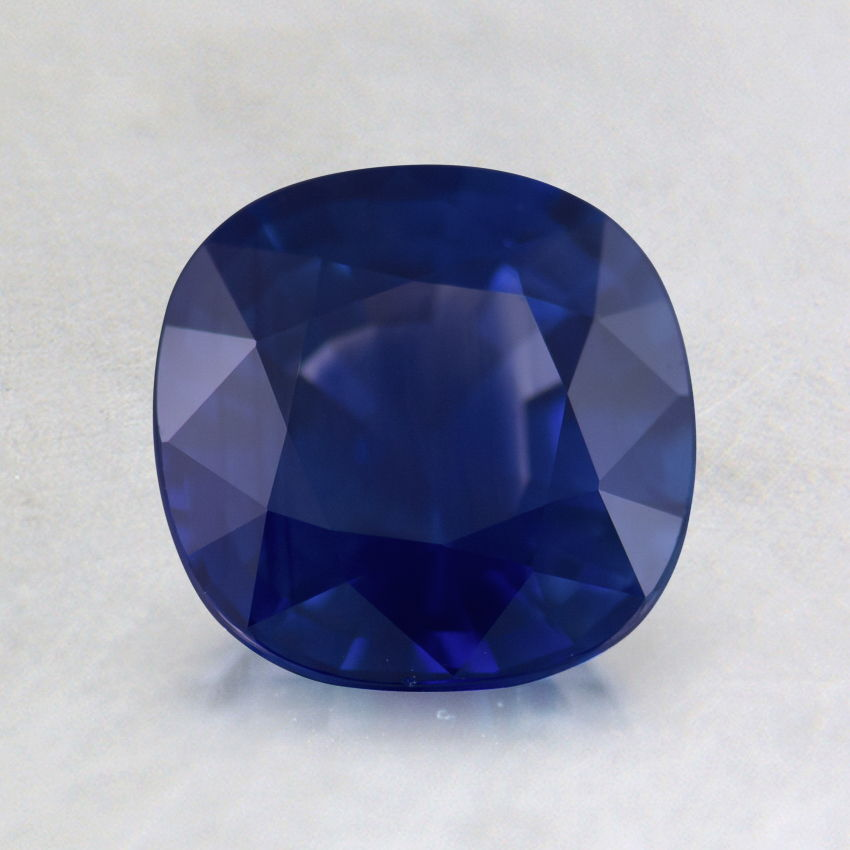 6.5mm Premium Medium Blue Cushion Sapphire