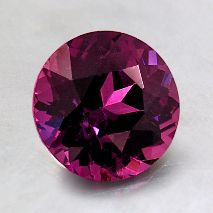 7.5mm Super Premium Purple Round Sapphire, top view