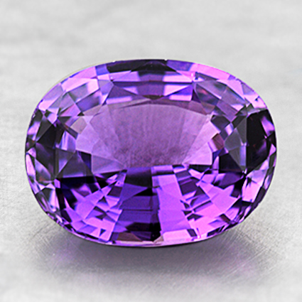 9x7mm Unheated Purple Oval Sapphire