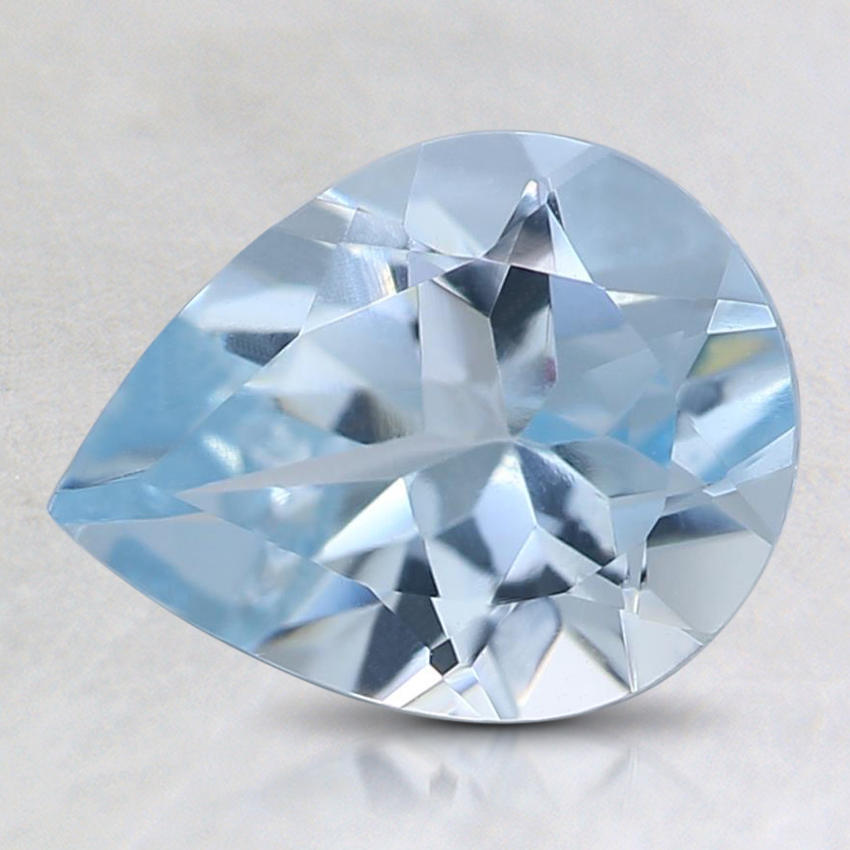 9x7mm Fine Pear Aquamarine