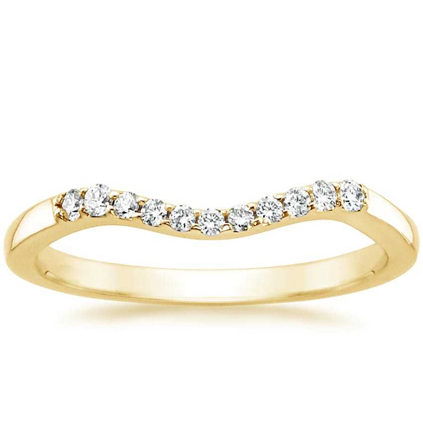 Yellow Gold Chamise Contoured Diamond Ring