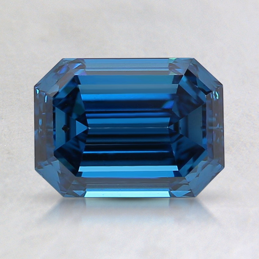 1.42 Ct. Fancy Dark Blue Emerald Lab Created Diamond