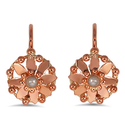 The Eastleigh Earrings, top view