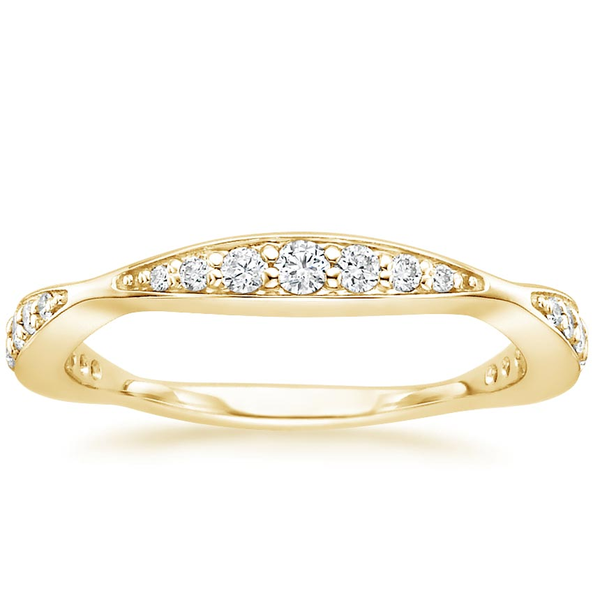 Yellow Gold Marquise Cluster Diamond Band