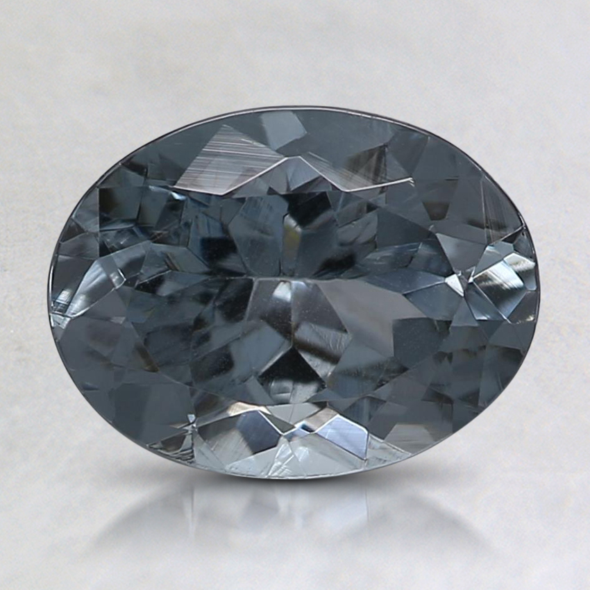 8.5x6.6mm Gray Oval Spinel