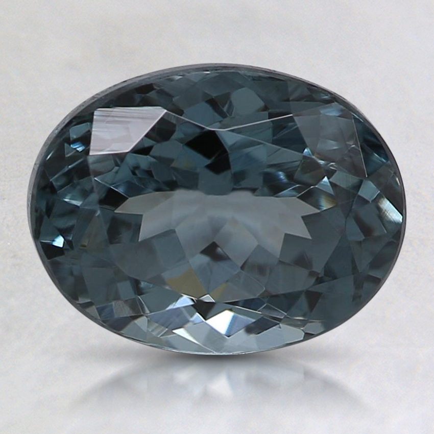 8.9x6.9mm Gray Oval Spinel