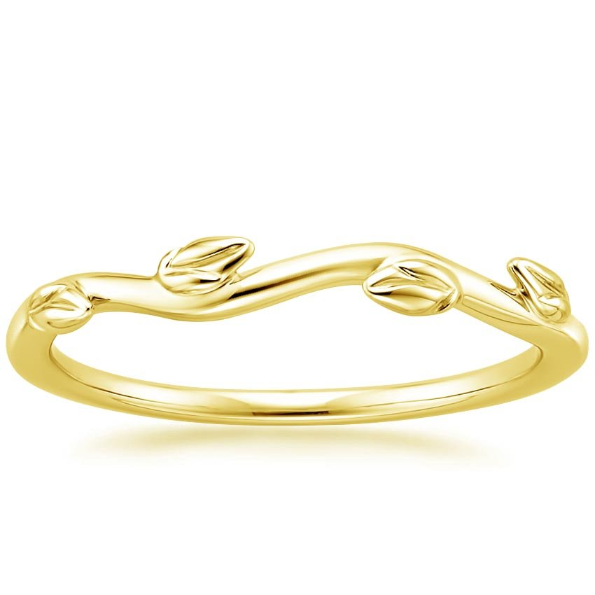 Yellow Gold Winding Willow Ring