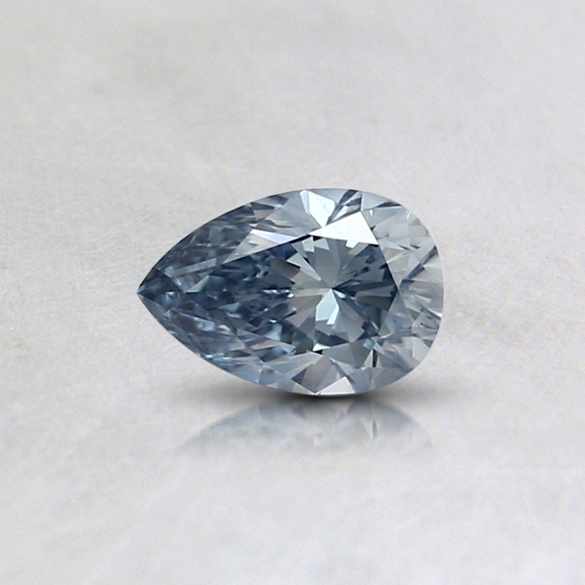 0.31 Ct. Fancy Light Blue Pear Lab Created Diamond