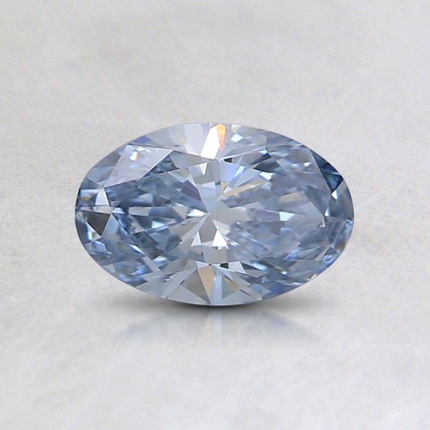 0.50 Ct. Fancy Blue Oval Lab Created Diamond