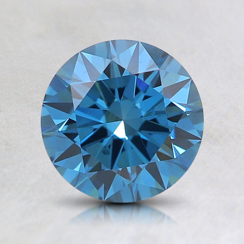 1.14 Ct. Fancy Deep Blue Round Lab Created Diamond