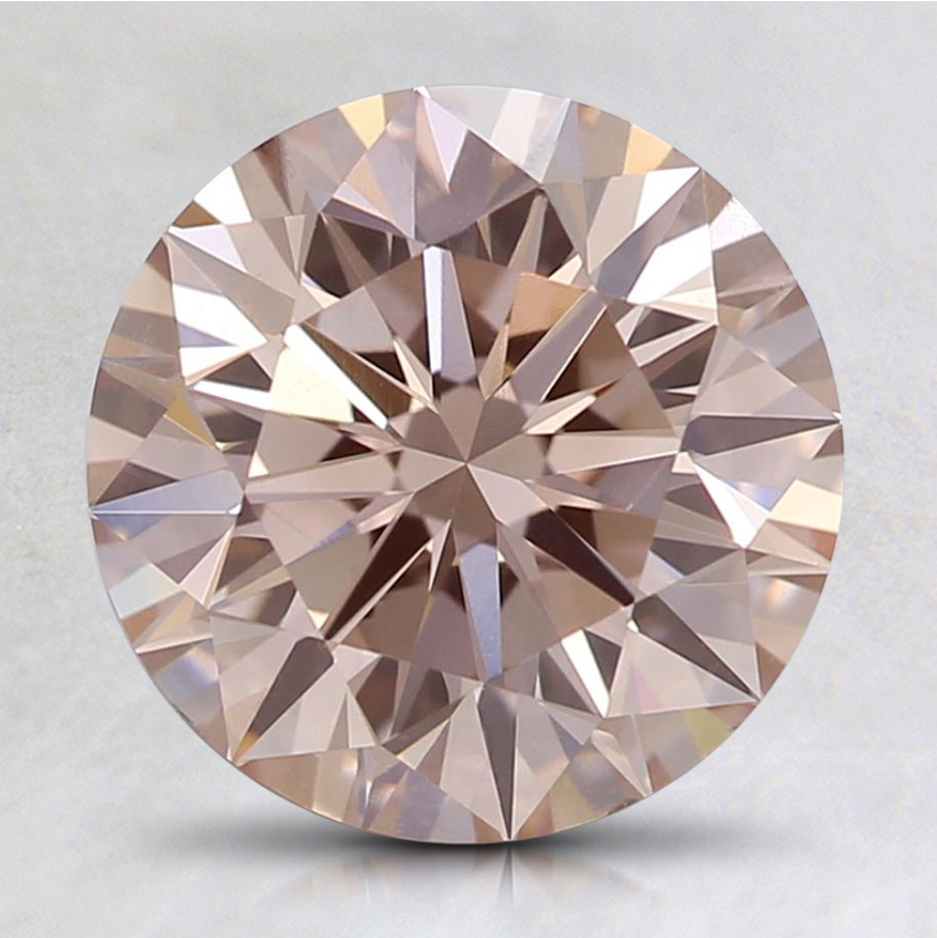 2.01 Ct. Fancy Light Pink Round Lab Created Diamond