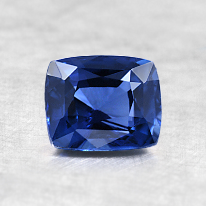 6x5mm Premium Blue Cushion Sapphire, top view