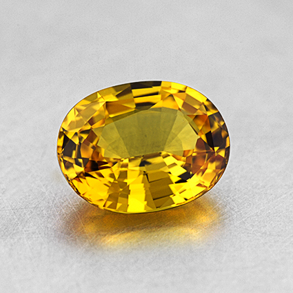 9x7mm Unheated Yellow Oval Sapphire