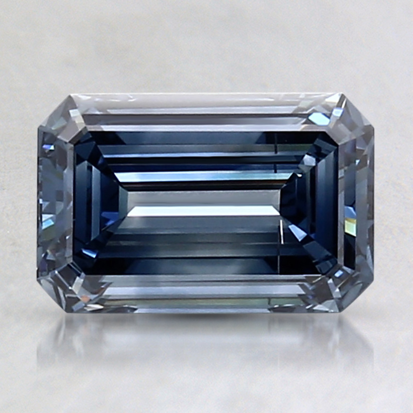 1.50 Ct. Fancy Deep Blue Emerald Lab Created Diamond