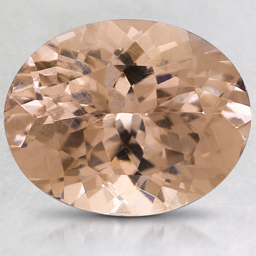 10x8mm Peach Oval Garnet