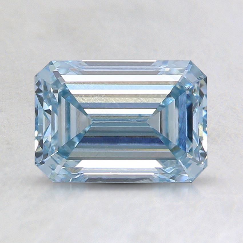 1.23 Ct. Fancy Light Blue Emerald Lab Created Diamond