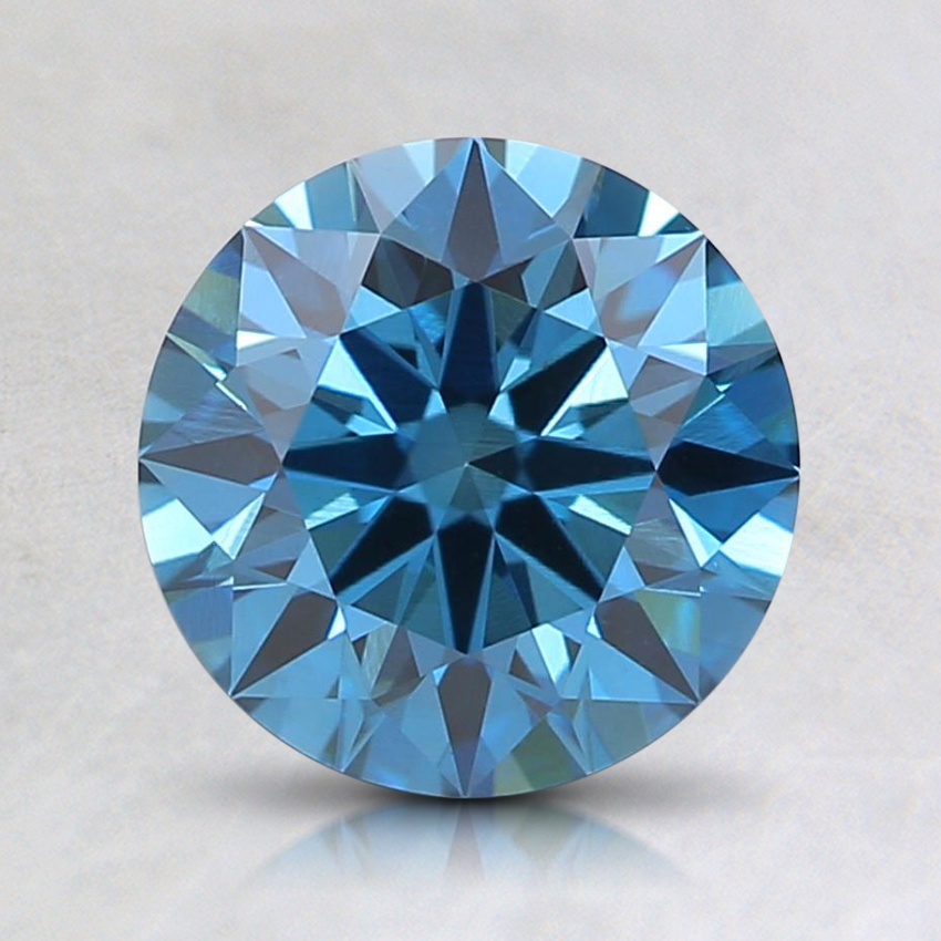 1.30 Ct. Fancy Deep Blue Round Lab Created Diamond