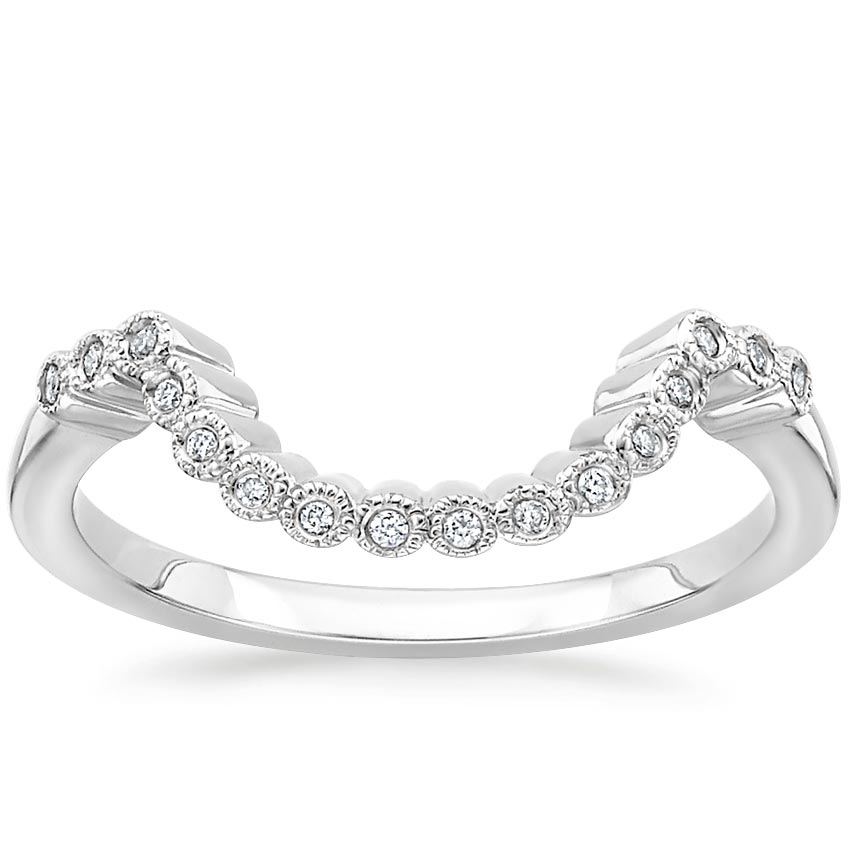 Alvadora Contoured Diamond Ring in Platinum