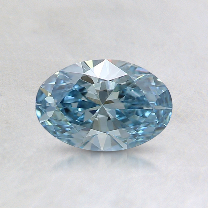 0.53 Ct. Fancy Blue Oval Lab Created Diamond