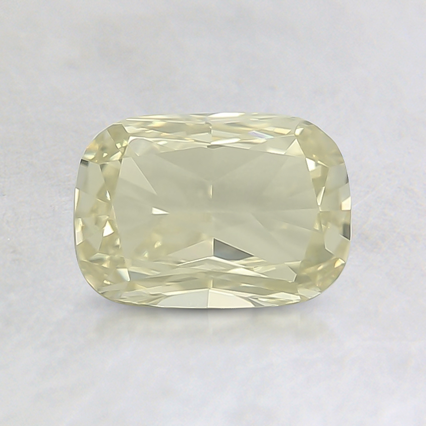 0.70 Ct. Fancy Light Greenish Yellow Cushion Diamond