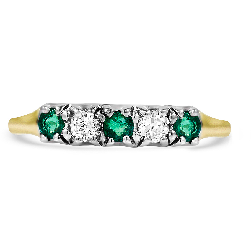 Edwardian Emerald Vintage Ring