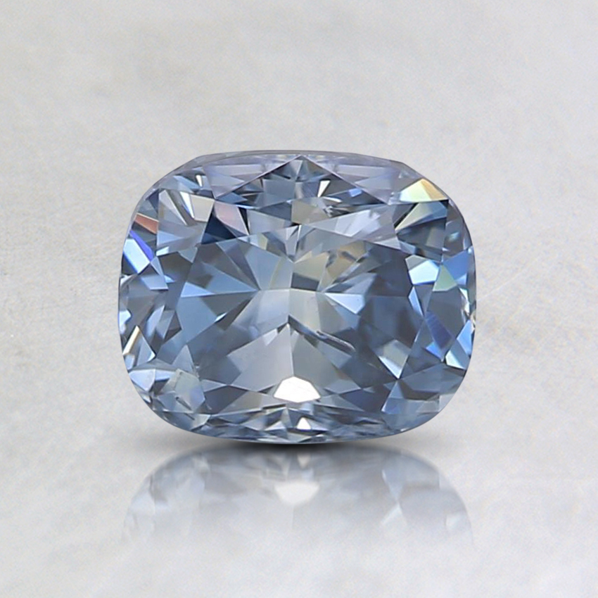 0.95 Ct. Fancy Vivid Blue Cushion Lab Created Diamond