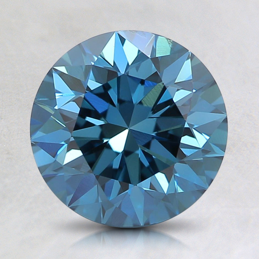 1.90 Ct. Fancy Deep Blue Round Lab Created Diamond