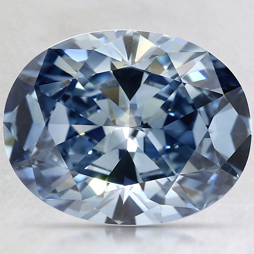 2.37 Ct. Fancy Vivid Blue Oval Lab Created Diamond